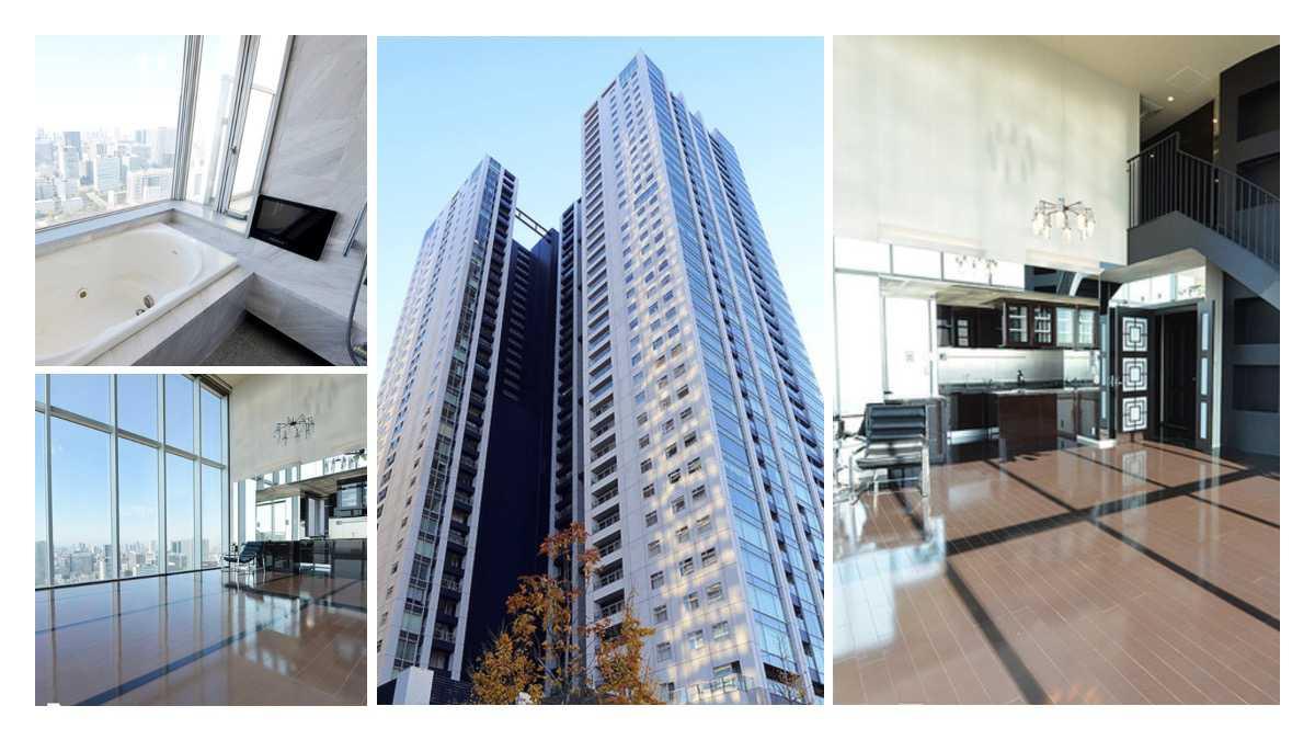 東京都港区にある42階最上階のペントハウス